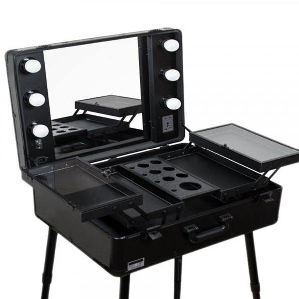 Poze Statie Make-Up Profesionala Premium Fraulein38 - Statie Machiaj Black