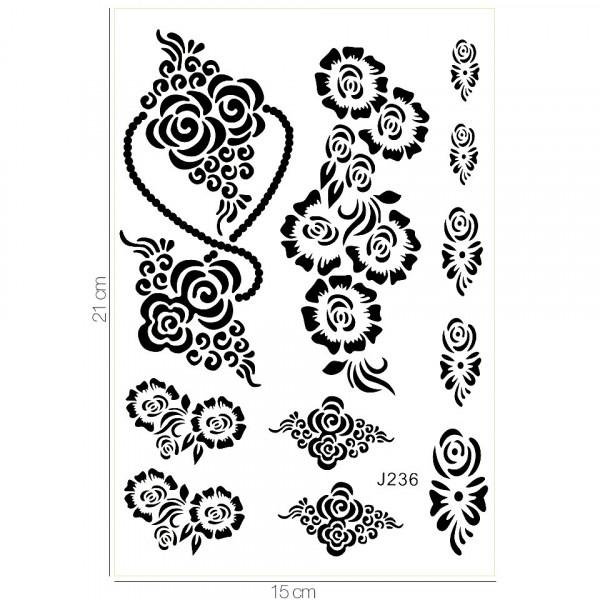 Poze Tatuaj Temporar LUXORISE Henna Temptation Flower Goddess J236