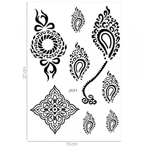 Poze Tatuaj Temporar LUXORISE Henna Temptation Flowing Soul J031
