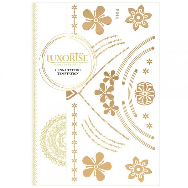 Poze Tatuaj Temporar LUXORISE Henna Temptation Gold Edition E014