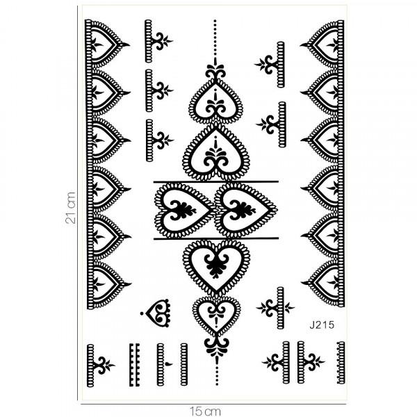 Poze Tatuaj Temporar LUXORISE Henna Temptation Heart Details J215