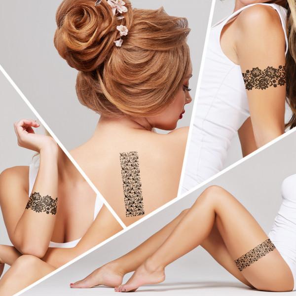 Poze Tatuaj Temporar LUXORISE Henna Temptation Lace Dress J039