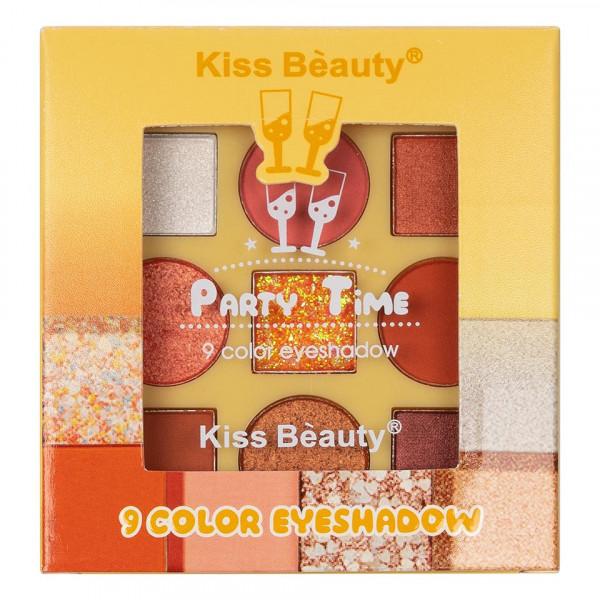 Poze Trusa Farduri 9 culori Kiss Beauty Party Time