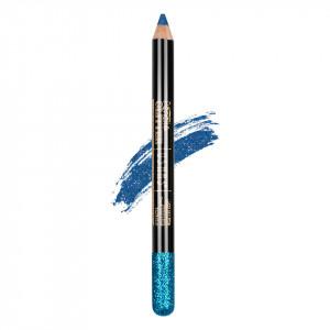 Creion Colorat Contur Ochi cu Sclipici, Ushas Glittery Blue #04