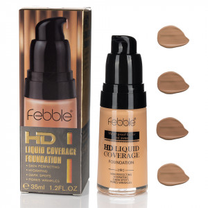 Fond de Ten Febble HD Liquid Coverage, 4 nuante, 35 ml