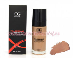 Fond de Ten Full Coverage cu SPF 15 30 ml - #04 ten masliniu sau bronzat