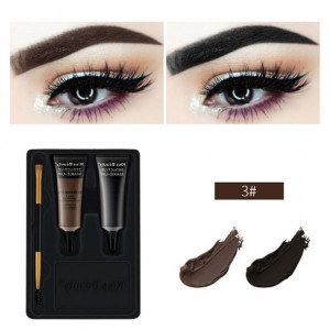 Kit sprancene 2 geluri + pensula aplicare #03 SpecialBrow Kiss Beauty