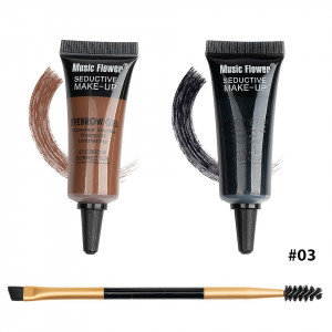 Kit sprancene 2 in 1 + pensula sprancene Happy Brow #03