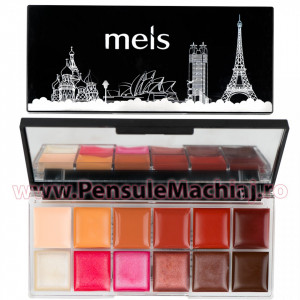 Paleta Ruj si Eyeshadow 12 culori #04 Be Yourself