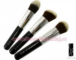 Set 3 pensule machiaj Fraulein38 Kabuki Exclusive Style - Contour Mastery