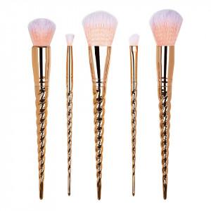 Set 5 pensule machiaj Unicorn Rose Gold Limited Edition