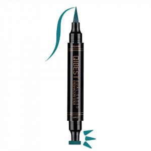 Eyeliner Colorat tip Carioca cu Stampila Ochi, Qibest Mirage Green #04