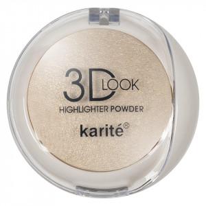 Pudra Iluminatoare cu aplicator Karite 3D Look Oil Control #01