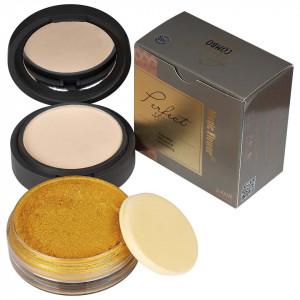 Pudra Machiaj si Iluminator Gold Makeup #102