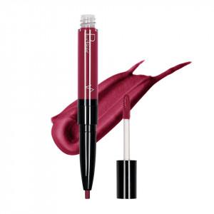 Ruj lichid mat 2 in 1 cu creion de buze Pudaier KissME #15
