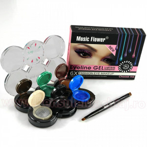 Set Eyeliner Gel 6 culori Lasting Waterproof