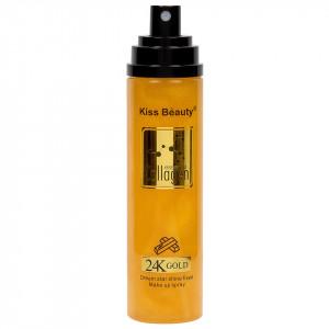 Spray Fixare Machiaj Kiss Beauty Collagen Essence 24K Gold