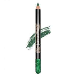 Creion Colorat Contur Ochi cu Sclipici, Ushas Glittery Green #06
