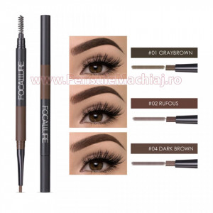 Creion sprancene 3 in 1 Focallure Amazing Brows
