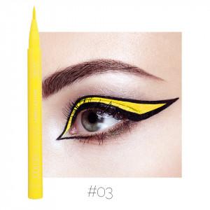 Eyeliner colorat Qibest Waterproof, Galben #03