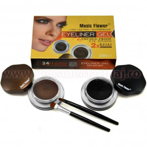 Eyeliner Gel 2 culori Eye Studio Black & Brown + 2 pensule
