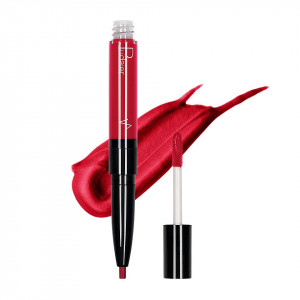 Ruj lichid mat 2 in 1 cu creion de buze Pudaier KissME #14