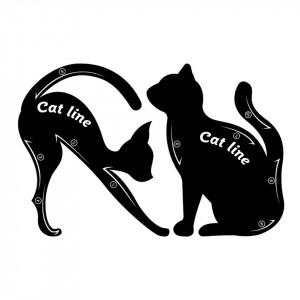 Sablon pentru Eyeliner - My Favorite Cat Line
