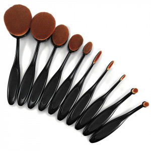 Set 10 pensule machiaj Ovale Curve Brushes Beauty Make-up