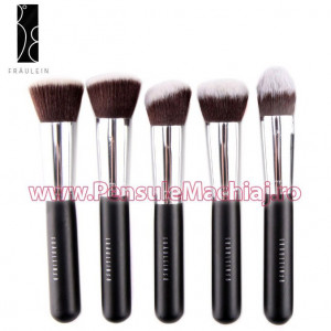 Set 5 pensule machiaj par natural Fraulein38 Kabuki Full Contour