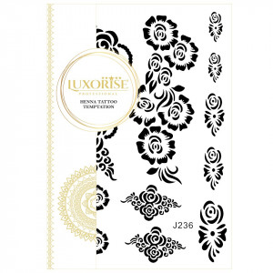 Tatuaj Temporar LUXORISE Henna Temptation Flower Goddess J236