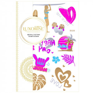 Tatuaj Temporar LUXORISE Henna Temptation Gold Edition E026