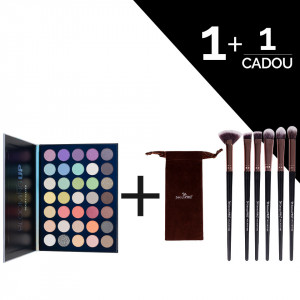 Trusa Farduri Blooming UP Beauty Glazed + CADOU Set 6 Pensule Machiaj SensoPRO Milano