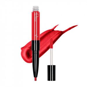 Ruj lichid mat 2 in 1 cu creion de buze Pudaier KissME #13