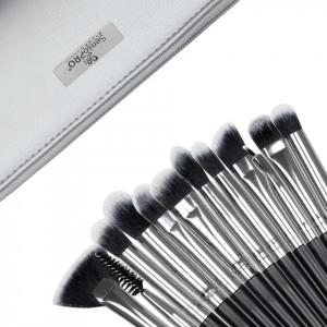 Set 12 pensule machiaj SensoPRO Milano, Black Silver + Borseta Cadou