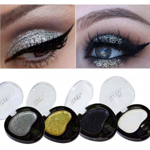 Set 4 Glitter Cream Gold Queen