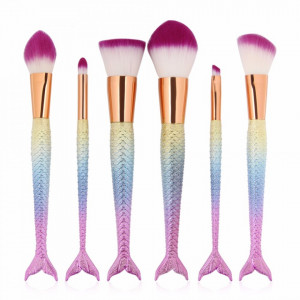 Set 6 Pensule Profesionale Machiaj Mermaid Pink Collection