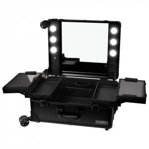 Statie Makeup Portabila Profesionala cu Lumini, Black Delight - LUXORISE
