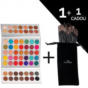 Trusa Machiaj 63 culori Stylish Dolly + CADOU Set 15 pensule SensoPRO Milano