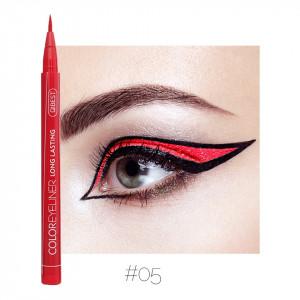 Eyeliner colorat Qibest Waterproof, Rosu #05