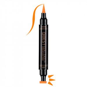 Eyeliner Colorat tip Carioca cu Stampila Ochi, Qibest Mirage Orange #07