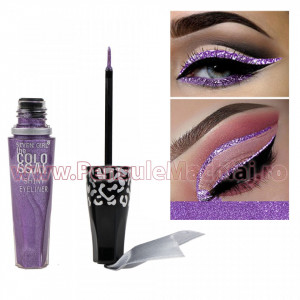Eyeliner Lichid Rezistent la Transfer Purple Sensation 8 ml - 02