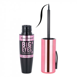 Eyeliner lichid Waterproof Big Eyes Kiss Beauty Ultra Black