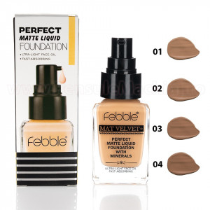 Fond de Ten Febble Perfect Matte Liquid Foundation, 4 nuante