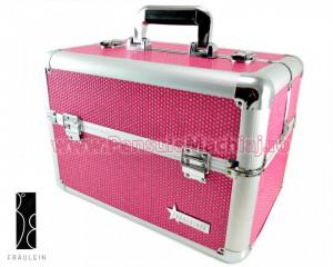 Geanta Produse Cosmetice din aluminium Fraulein38 Sparkle Pink