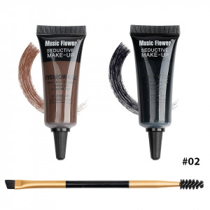Kit sprancene 2 in 1 + pensula & perie sprancene Happy Brow #02