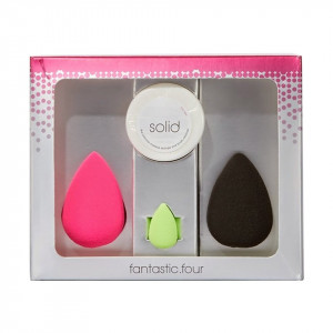 Set 3 Buretei Cosmetici + Cleanser Solid Beauty Blender