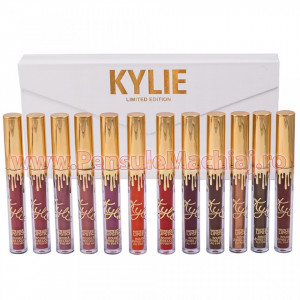 Set Rujuri Lichide Mate 12 Culori Kylie Limited Edition