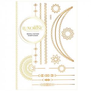 Tatuaj Temporar LUXORISE Henna Temptation Gold Edition E002