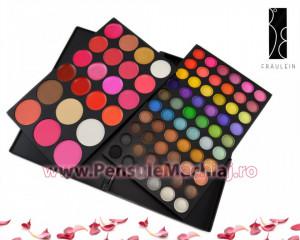 Trusa Machiaj 82 culori cu ruj si blush Fraulein38 Make Up Fusion
