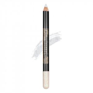 Creion Colorat Contur Ochi cu Sclipici, Ushas Glittery White #02